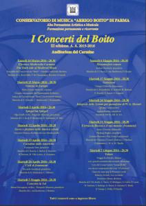 Concerti Parma - Locandina Generale14x21
